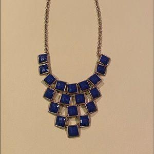 🤩 Navy blue & coper-tone costume necklace.